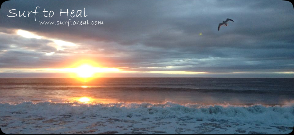 Surf to Heal - www.surftoheal.com - image of ocean at dawn with sun rising